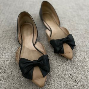 Kate Spade leather bow flats